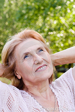 Nice aged woman