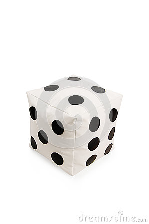 Free Nice And Soft Beanbag Chair In Shape Of Dice Royalty Free Stock Image - 31707656