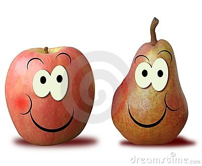 Nice apple and pear