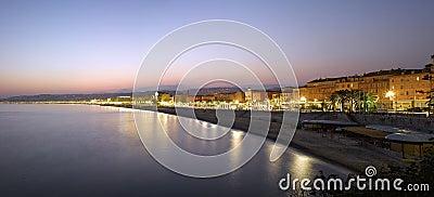 Nice :  Beach Panorama at night