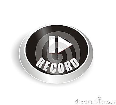 Nice black recording button