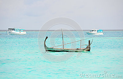 Nice boat in Maldives