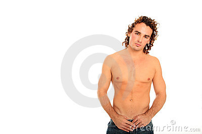 Nice body guy with long hair