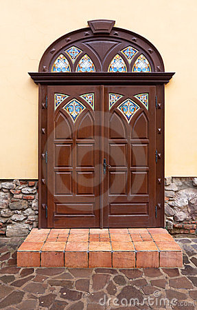 Nice brown door