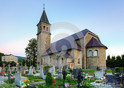Nice Catholic Church in village Babin