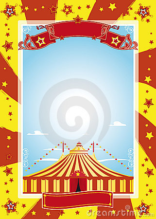 Free Nice Circus Poster Royalty Free Stock Photos - 12170778