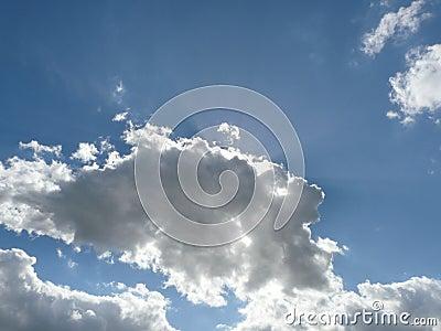 Nice cloudy sky with arrays