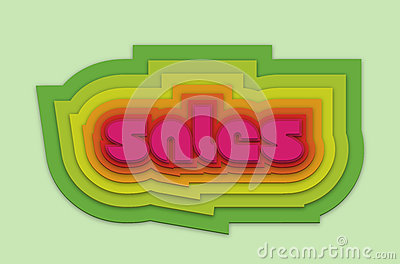 Nice colorful sales 3d vector