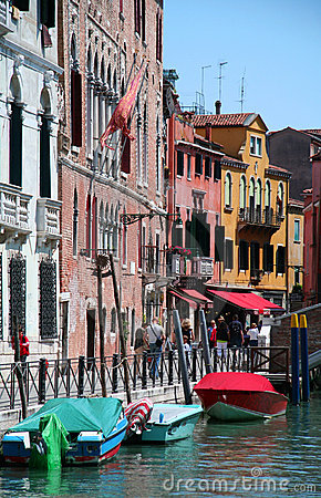 Nice coloured street in Venetia