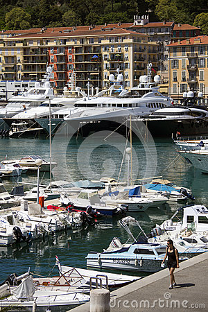 Nice - Cote dAzur - South of France. Editorial Stock Photo