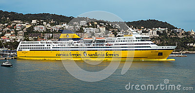 Nice - Cruise ship in Port de Nice Editorial Stock Photo