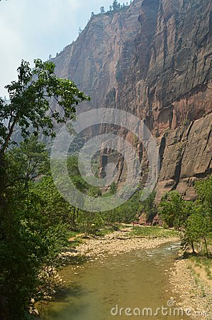 Free Nice Desfuladero With A Sinuous River Full Of Water Pools Where You Can Take A Good Bath In The Park Of Zion. Geology Travel Holid Stock Photography - 107833222