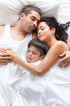 Free Nice Family Sleeping Together Stock Photo - 9567210