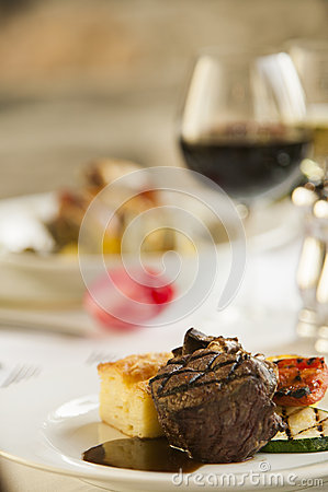 Free Nice Fine Steak Dinner. Stock Photos - 30992033