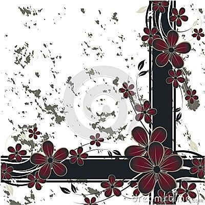 Nice flower grunge background