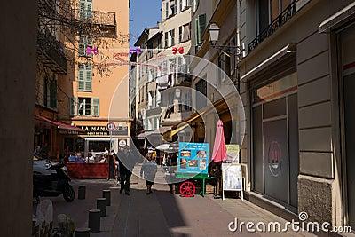 Nice France Street Scene Restaurant