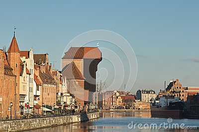 Nice Gdansk view. Editorial Photography
