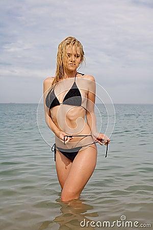 Nice girl at the sea