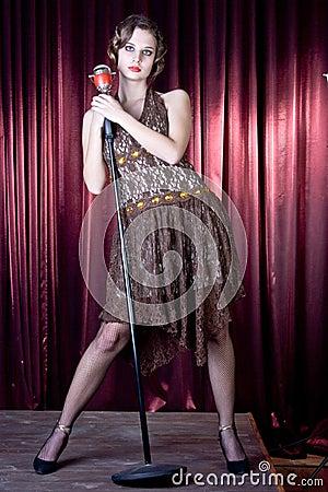 Nice girl sings