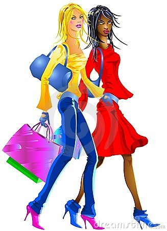 Nice Girls going to shopping