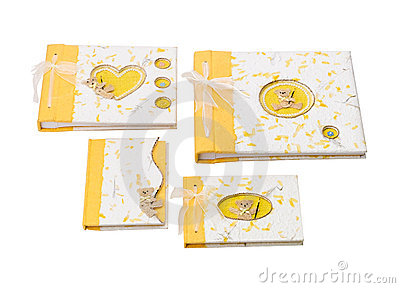 Nice greeting note books isolated
