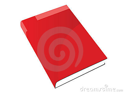Nice isolated red  book