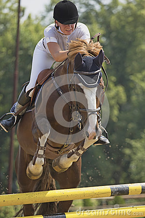 Nice jump with horse Editorial Stock Photo