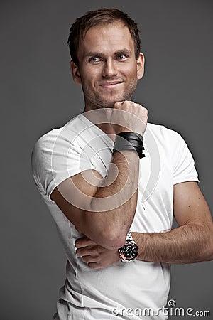 Nice likeable guy on white background