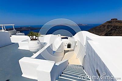 A nice luxury hotel in Fira, Santorini