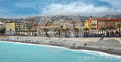 Nice - Luxury resort of French riviera Editorial Photo