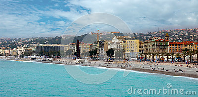 Nice - Luxury resort of French riviera Editorial Photography