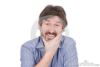 The nice man smiles