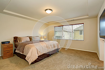 Nice Master Bedroom With Simple Decor Stock Photo Image 57678867