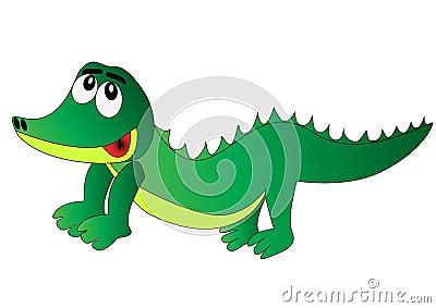 Nice merry crocodile