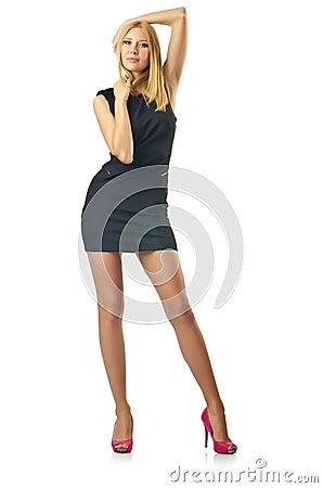 Nice model in studio shoot