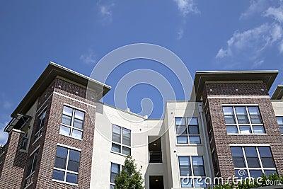 Nice modern apartment buildings