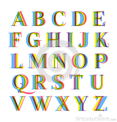 Nice modern colorful alphabet set
