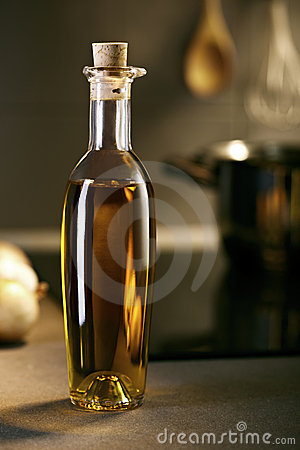 Nice oil bottle in a kitchen