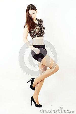 Nice posing woman