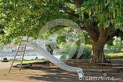 Nice public park with a slide