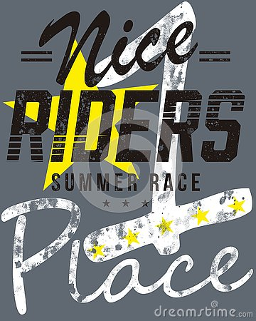 Free Nice Riders Summer Race Place Graphics Royalty Free Stock Photo - 86706605