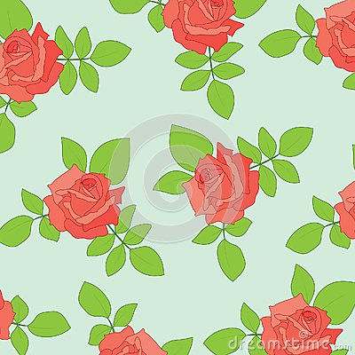 Nice seamless with roses