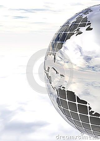 Nice sky mirror globe