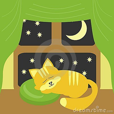 Free Nice Sleeping Cat Near The Window Royalty Free Stock Photos - 16685238