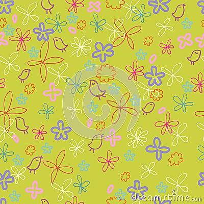 Nice spring floral pattern