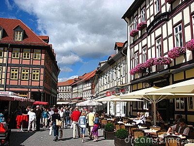 A nice summer day at Wernigerode, Germany Editorial Image