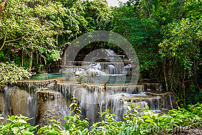 Nice waterfall in thailand