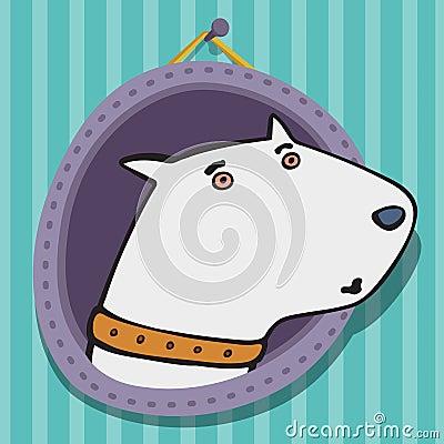 Nice white a bull terrier
