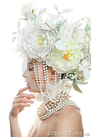 Free Nice Woman Fashion Model With Makeup Stock Image - 88056211