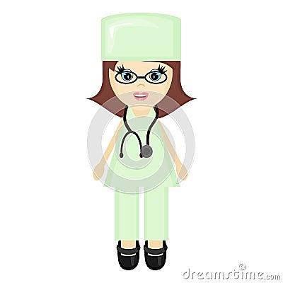 Nice young girl doctor